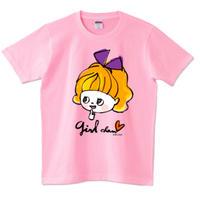 girlちゃんTシャツ(むらさきリボン)