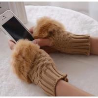 ファー手袋