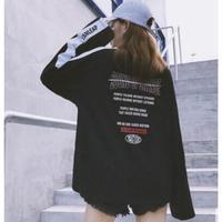 レディース アームラインロングシャツ