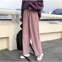 ladies corduroy wide pants