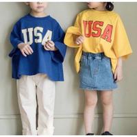 KIDS  USA  ゆるダボTシャツ