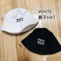 WHITE  親子HAT