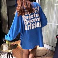 英字バックプリントTシャツ
