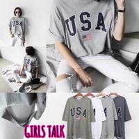 USA ダメージTシャツ