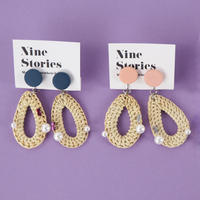 Nine Stories ラタンイヤリング (2299990788868)