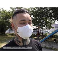 3D布マスク(ポケット付き)抗菌防臭ダブルガーゼ-白
