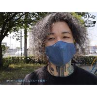 3D布マスク(ポケット付き)-デニムブルーX蛍光緑