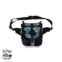 Mini Hexagon waist pack-Brontosaurus