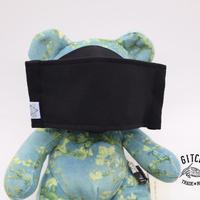 3層立体布マスク(ポケット付き)-ブラック