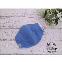 3D布マスク(ポケット付き)ダブルガーゼ-水色