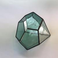 ダイヤ型テラリウム(M シーグリーン)