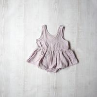 ベビーワンピース【ピンクグレー】