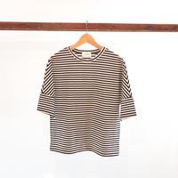 ママボーダーTシャツ【ブラック】