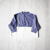 シャツプルオーバー【ブルー×ホワイト】