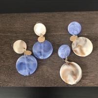 【Blue & marble】ピアス&イヤリング