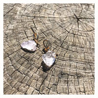 【Clear natural stone】ピアス