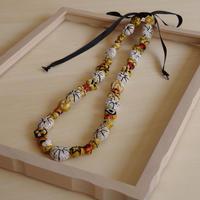 ハンドメイド刺繍ネックレス(ゴールド)NK-Gold001