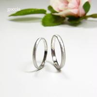 細めの結婚指輪(ハードプラチナ900製) マットな艶消し仕上げ(Light)5-4
