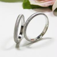 甲丸の結婚指輪、シルクサテン仕上げ(161-la、162-me)