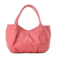 牛革製バッグ/パンプキン シャインピンク