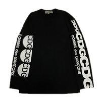 COMME des GARCONS CDG L/S TEE BLACK XL 【中古品】