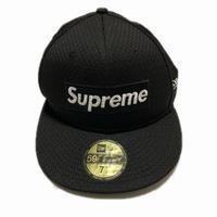 Supreme Mesh Box Logo New Era Black 7-1/2 18SS 【中古】