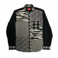 Supreme Animal Patchwork Twill Shirt Black S 16AW 【中古】