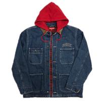 Supreme Hooded Chore Coat Blue M 17AW 【中古】