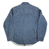Supreme Sherpa Lined Denim Shirt Blue M 18AW 【新品】