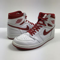 NIKE AIR JORDAN 1 RETRO HIGH OG METALLIC RED 27.0cm 2017年 【中古】