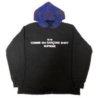 Supreme Comme des Garcons SHIRT Hooded Sweatshirt Black Mサイズ 15AW 【中古】