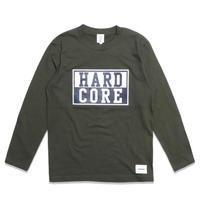HARD  CORE  L/S TEE ハードコア  ロンTEE  カーキ