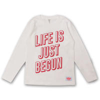 JUST  BEGUN  L/S TEE ジャストビィガン  ロンTEE  WHITE
