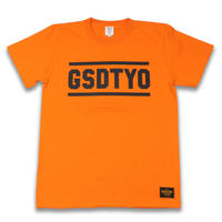 GSDTYO  TEE  GSDTYO  Tシャツ  オレンジ  大人サイズ