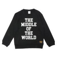 MIDDLE  WORLD  C/N  SWEAT  SHIRT ミドルワールド  スウェットシャツ  BLACK