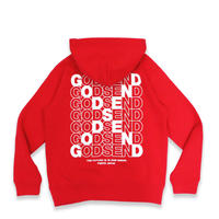 CROSS  LOGO  HOODIE  RED  クロスロゴ  パーカー  レッド