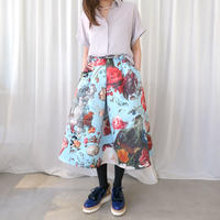 【SIMEON FARRAR】 BIG SKIRT with Blue Flower