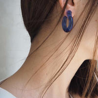 【ANNIKA INEZ】Blue Glassy Hoop ピアス