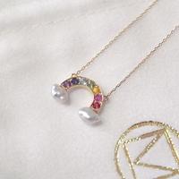 【KOMI】K18 Rainbow Necklace