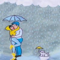 Kissing in the Rainくつした from Paris