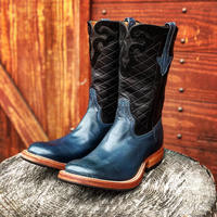 RIOS of MERCEDES / Grip Rabber Sole Boots (NAVY / BLACK)