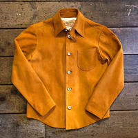 DEER HORN SMITH'S / EZO DEER LEATHER SHIRT (SUEDE YELLOW)