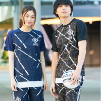 幾何学模様 プラシャツ F-257