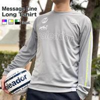 限定  メッセージ ライン プラクティス ロングTシャツ     OM-254(K)