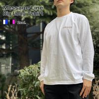 限定 メッセージ ライン ビック ロングTシャツ   OM-252(K)