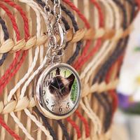 オーダーメイド バッグチャーム時計 世界に一つのオリジナルウォッチ ペットメモリアル 猫 犬 ウサギ