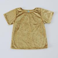 大人気 再再販 Gold クラッシュベロアT シャツ