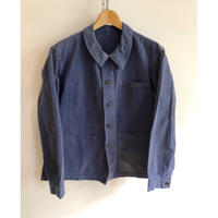 30's French Cotton/Metal Button Work Coverall