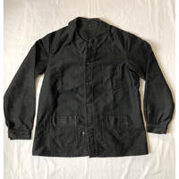 "Later 30's〜Ealy 40's Black Moleskin Coverall Mint Condition ""Wood Lacpuer Buttons"""