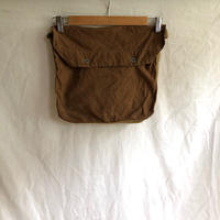 Later1930's〜1940's French Military Cotton Musette Bag Brown Color